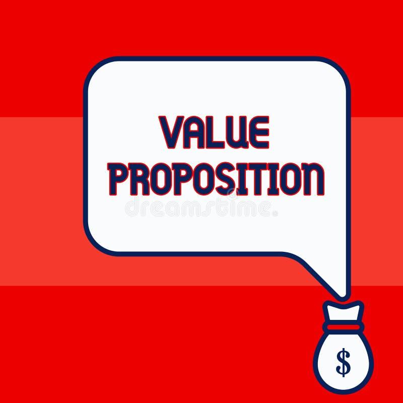 写显示价值提议的笔记 企业照片陈列的特点意欲做公司或产品 皇族释放例证