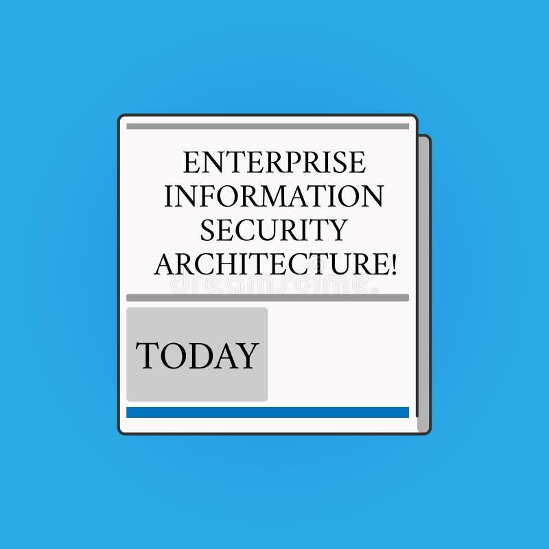 写显示企业信息保障建筑学的笔记 白色企业照片陈列的安全技术的保护 皇族释放例证