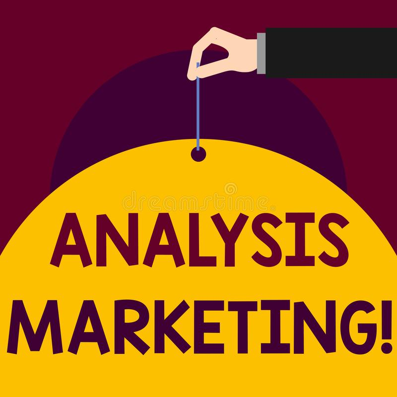 写显示分析行销的笔记 陈列对市场的定量和定性评估的企业照片 向量例证