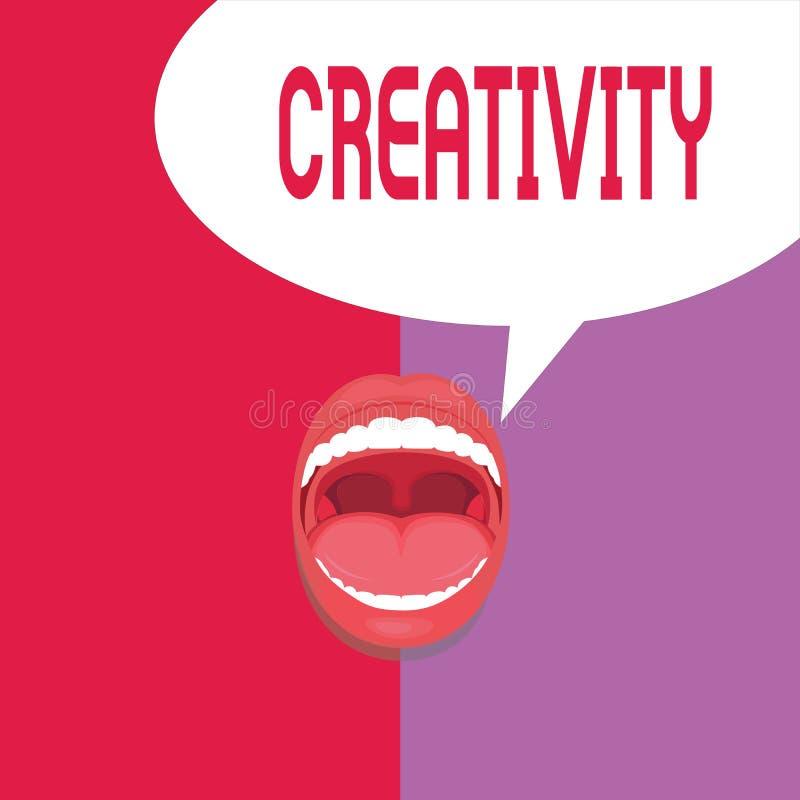 写显示创造性的笔记 对想象力或创新见解的企业照片陈列的用途创造某事 皇族释放例证