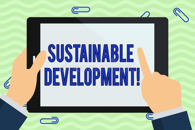 写显示可持续发展的笔记 企业照片陈列的开发没有取尽自然 向量例证