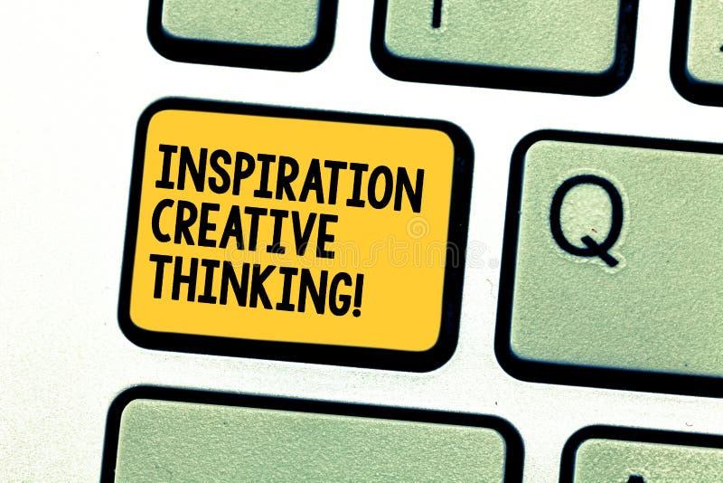 写显示启发创造性思为的笔记 企业照片陈列的能力过来与新鲜和新 免版税库存照片