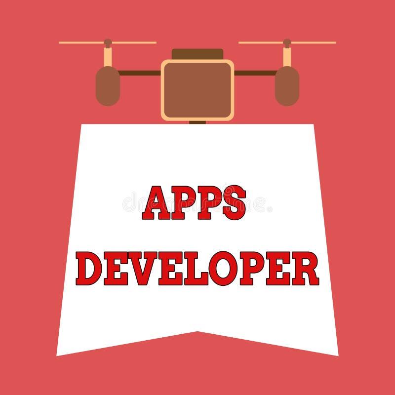 写显示应用程序开发商的笔记 陈列形象艺术家软件程序员和分析家专家的企业照片 皇族释放例证