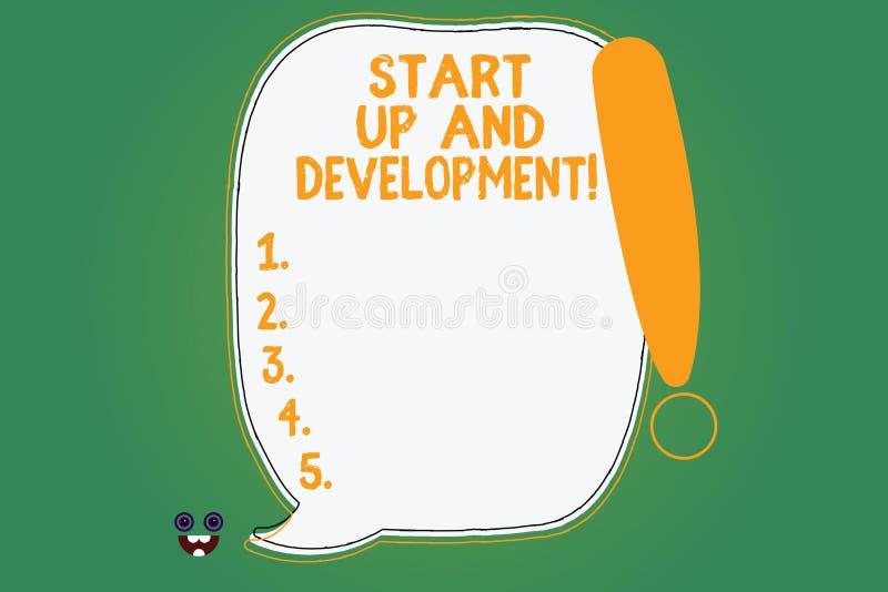 写显示开始和发展的笔记 陈列新的企业成功公司项目战略空白的企业照片 库存例证