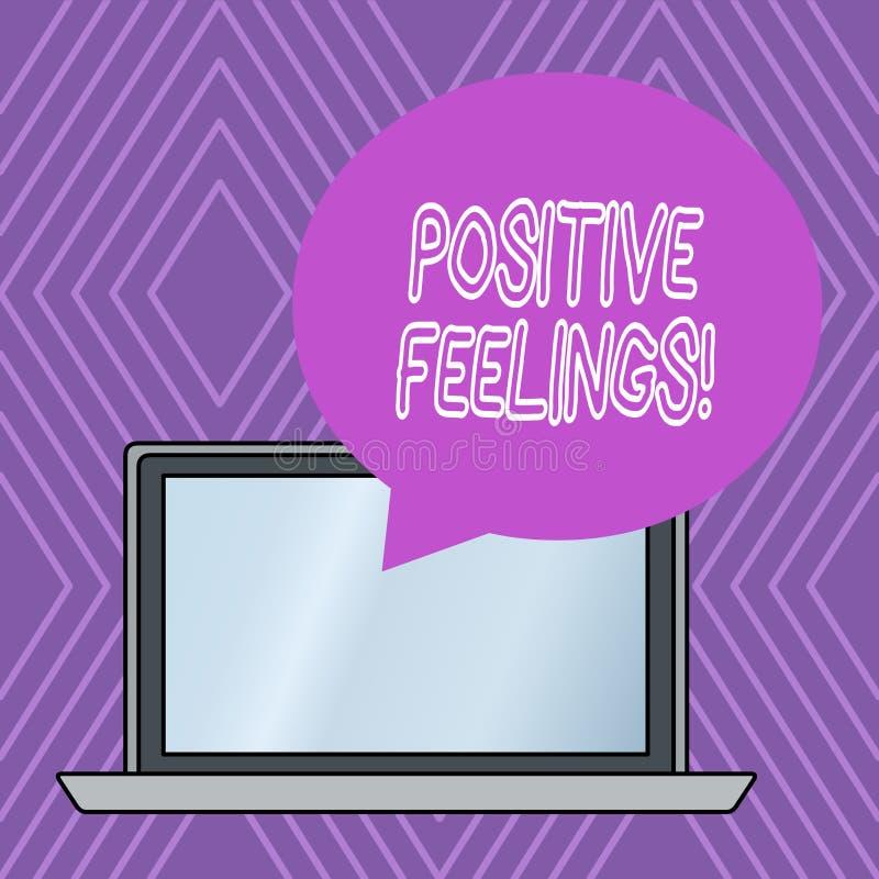写显示正面感觉的笔记 陈列有缺乏否定性或的任何感觉的企业照片 向量例证