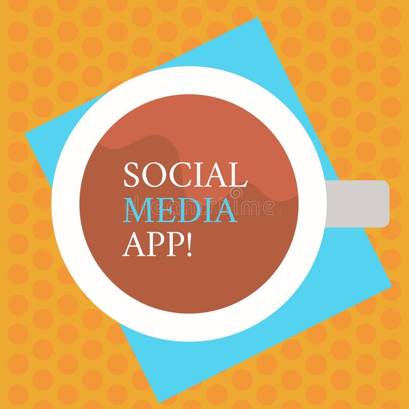 写显示社会媒介应用程序的笔记 企业照片陈列的创作和分享想法事业兴趣通过 向量例证