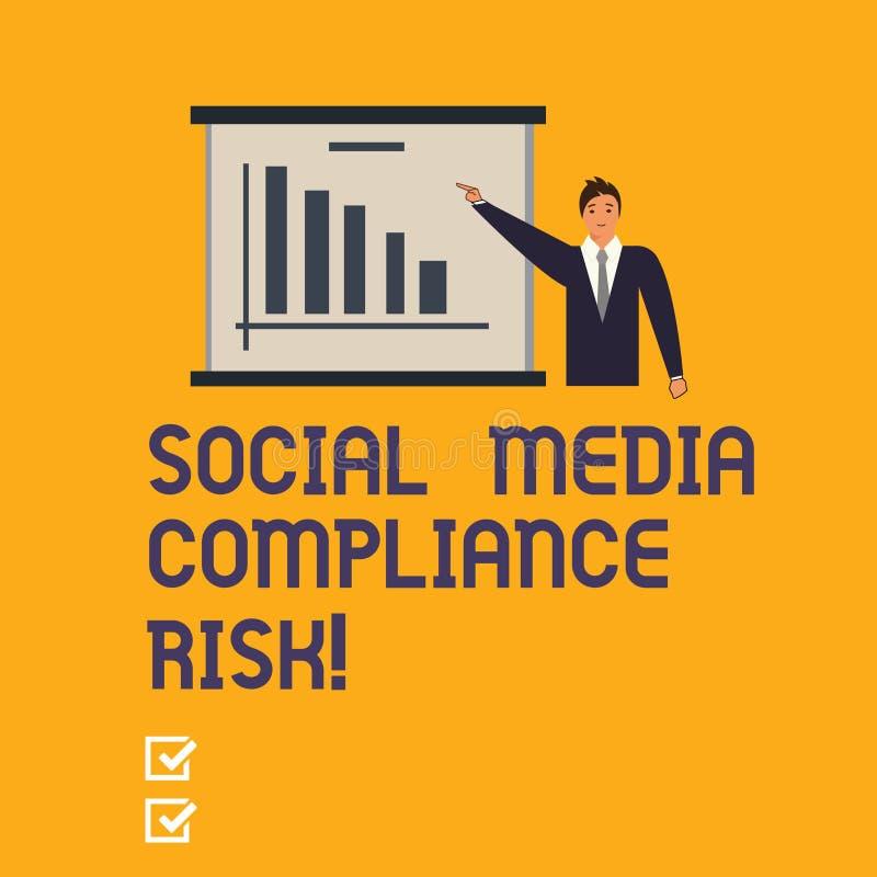 写显示社会媒介服从风险的笔记 在在网上分享的互联网上的企业照片陈列的风险analysisagement 向量例证