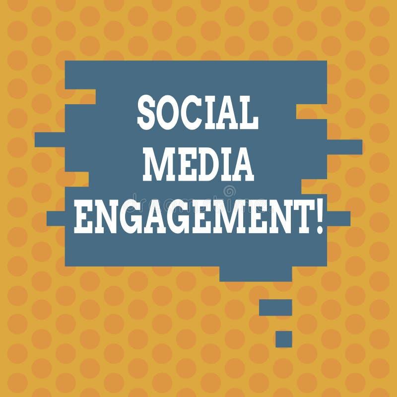 写显示社会媒介订婚的笔记 企业照片陈列的沟通在一个联机用户平台 库存例证