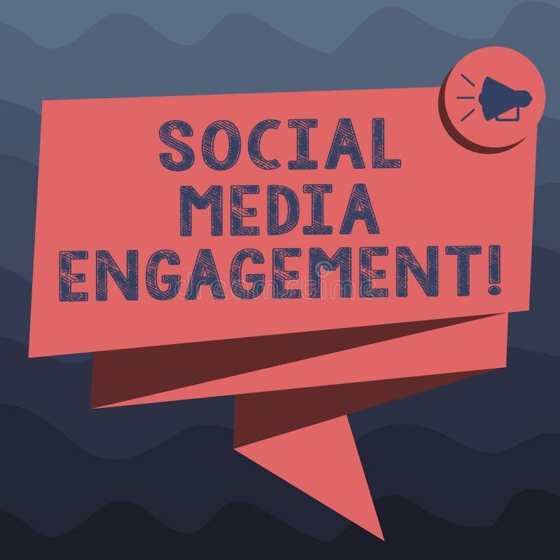 写显示社会媒介订婚的笔记 企业照片陈列的沟通在一个联机用户平台 向量例证