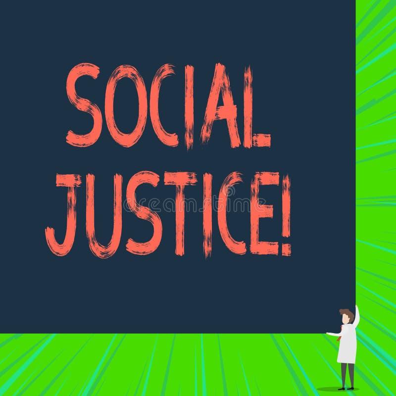 写显示社会正义的笔记 陈列对财富和特权的企业照片等长接入在社会内 向量例证