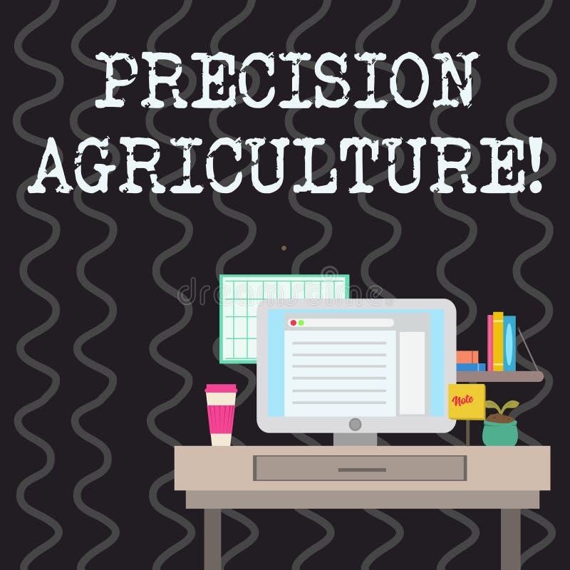 写显示精确度农业的笔记 陈列高效率的生产的企业照片现代农场经营实践 皇族释放例证