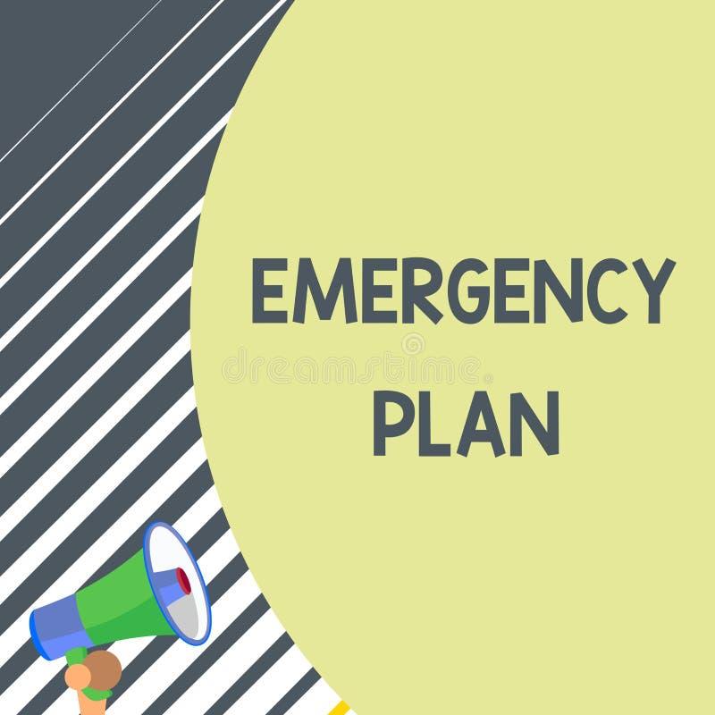 写显示紧急办法的笔记 反应的企业照片陈列的做法对主要的紧急事件准备 库存例证