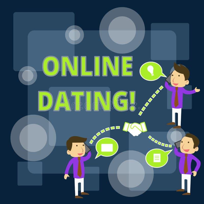 写显示网上约会的笔记 企业照片陈列的实践搜寻的一个roanalysistic伙伴 向量例证