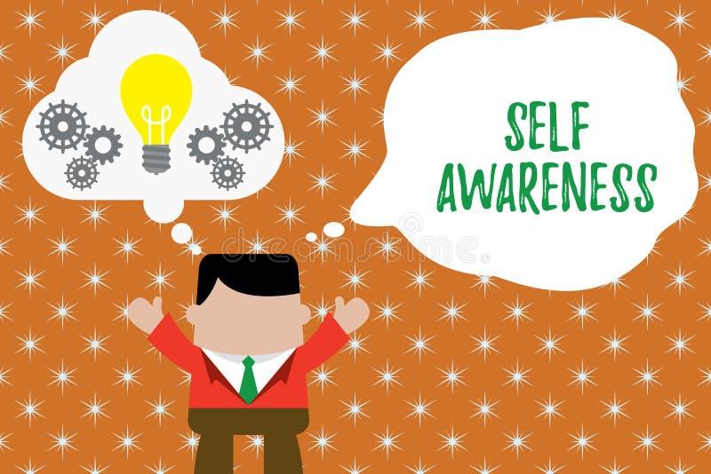 写显示自我意识的笔记 一展示的企业照片陈列的知觉往情况或 向量例证