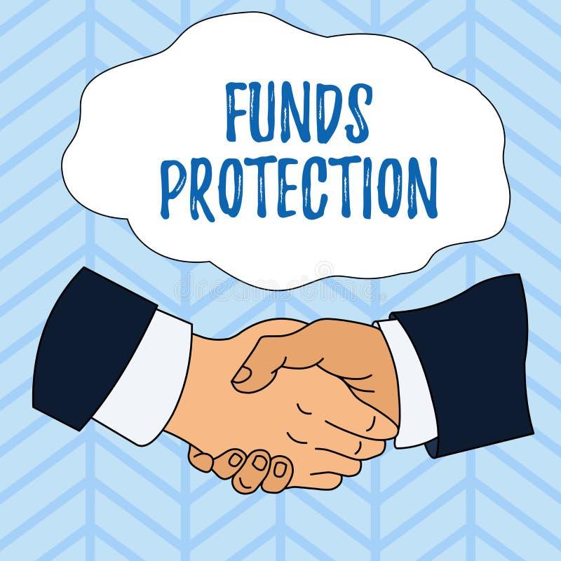 写显示资金保护的笔记 企业照片陈列许诺回归部分最初投资给投资者 向量例证