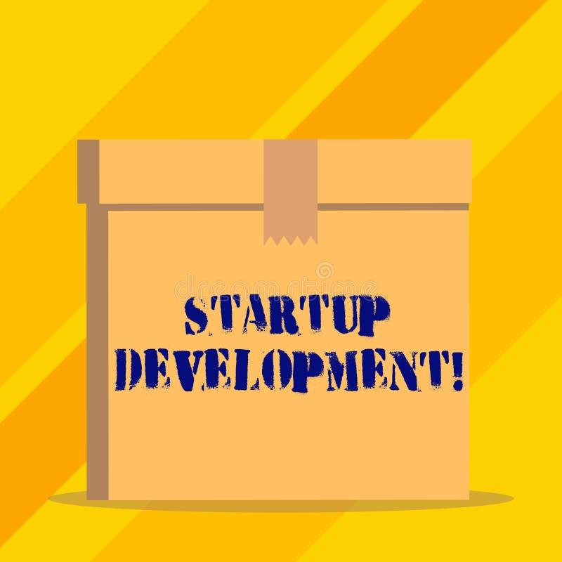 写显示起始的发展的笔记 高效率地陈列企业的照片开发和确认可升级的事务 向量例证
