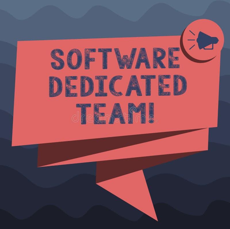写显示软件热忱的队的笔记 对应用程序和网发展的企业照片陈列的企业方法 库存例证