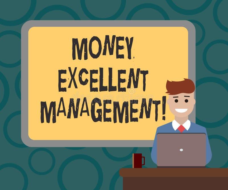 写显示金钱优秀管理的笔记 陈列您怎么的企业照片处理您的财务的所有方面 向量例证