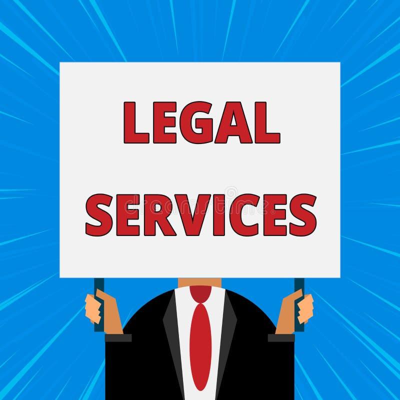 写法律帮助的手写文本 提供存取对于正义公平的审判法律平等人的概念意思 向量例证