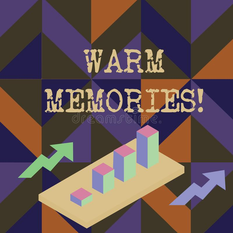 写温暖的记忆的手写文本 意味您记得与乐趣甜回忆的事的概念 库存例证
