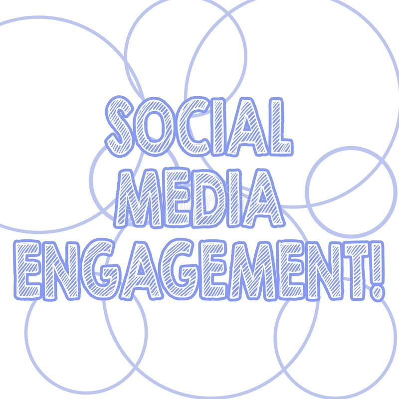 写社会媒介订婚的手写文本 沟通在一个联机用户平台的概念意思 皇族释放例证