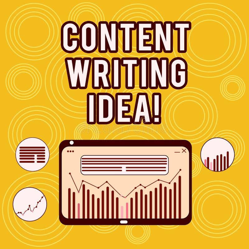 写笔记写想法的陈列内容 在写竞选的企业照片陈列的概念宣传产品数字 库存例证
