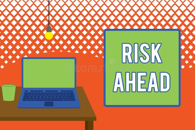 写笔记前面陈列风险 陈列损伤,伤害,责任,损失的可能性或威胁企业照片 向量例证