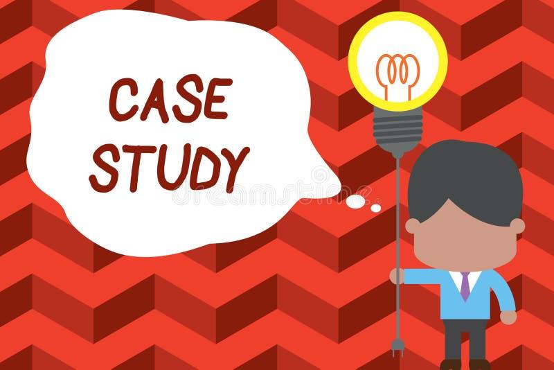 写笔记玻璃柜台研究 企业照片陈列的分析和一个具体研究设计审查的  向量例证