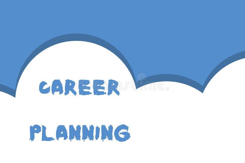 写笔记陈列事业规划 战略上陈列企业的照片计划您的事业目标和工作成功 库存例证