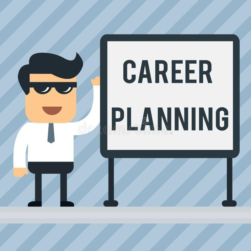 写笔记陈列事业规划 战略上陈列企业的照片计划您的事业目标和工作成功 皇族释放例证