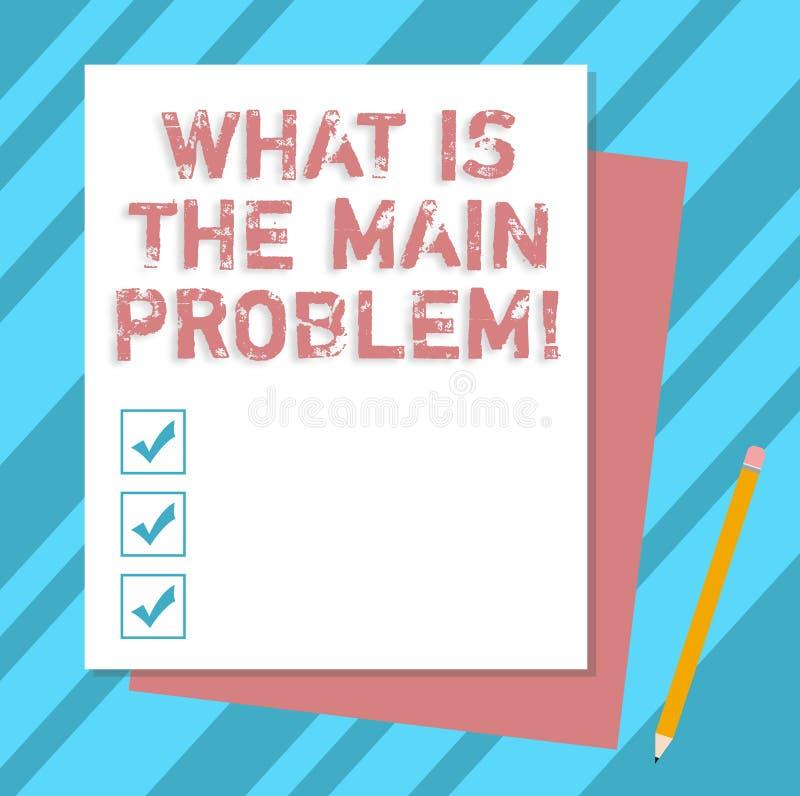 写笔记陈列什么是主要问题 企业照片陈列辨认麻烦的原因修理工作 库存例证