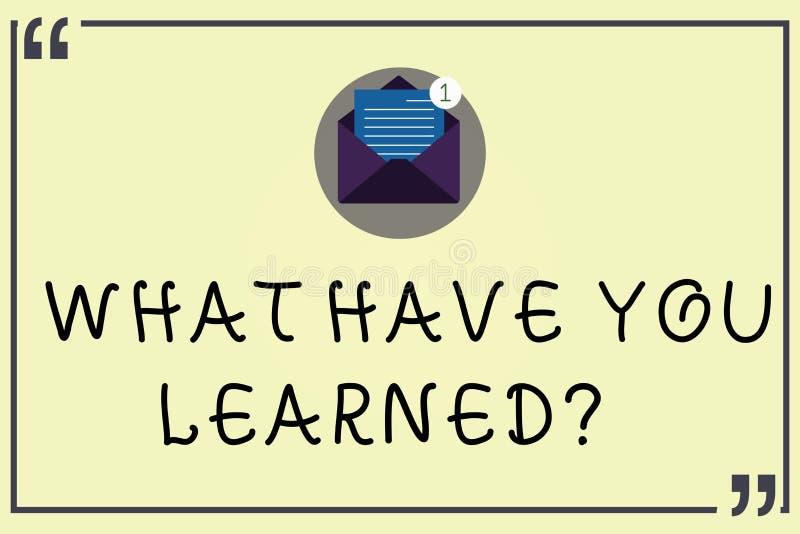 写笔记陈列什么有您Learnedquestion 企业照片陈列告诉我们开放您的新知识的经验 皇族释放例证
