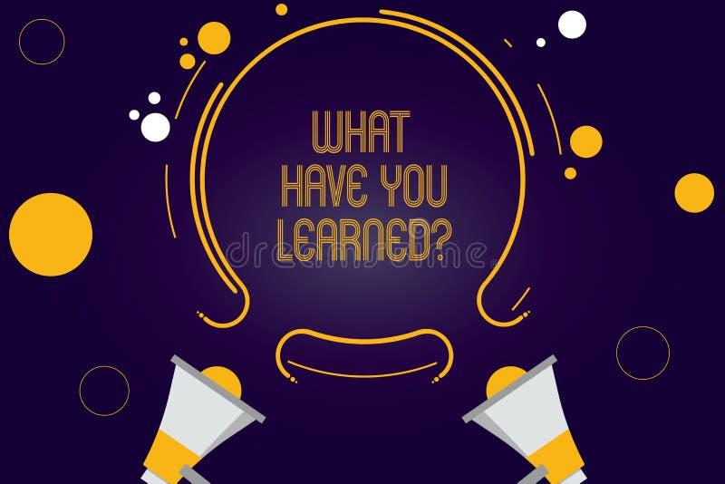 写笔记陈列什么有您Learnedquestion 企业照片陈列告诉我们您的新知识经验两 皇族释放例证