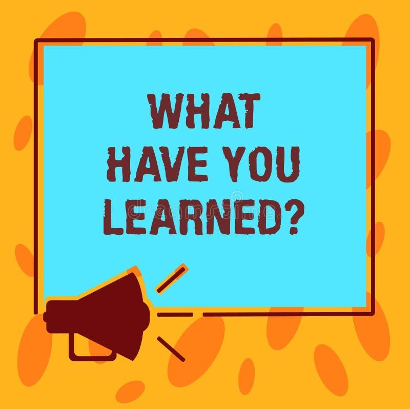写笔记陈列什么有您Learnedquestion 企业照片陈列告诉我们您的新知识经验 皇族释放例证
