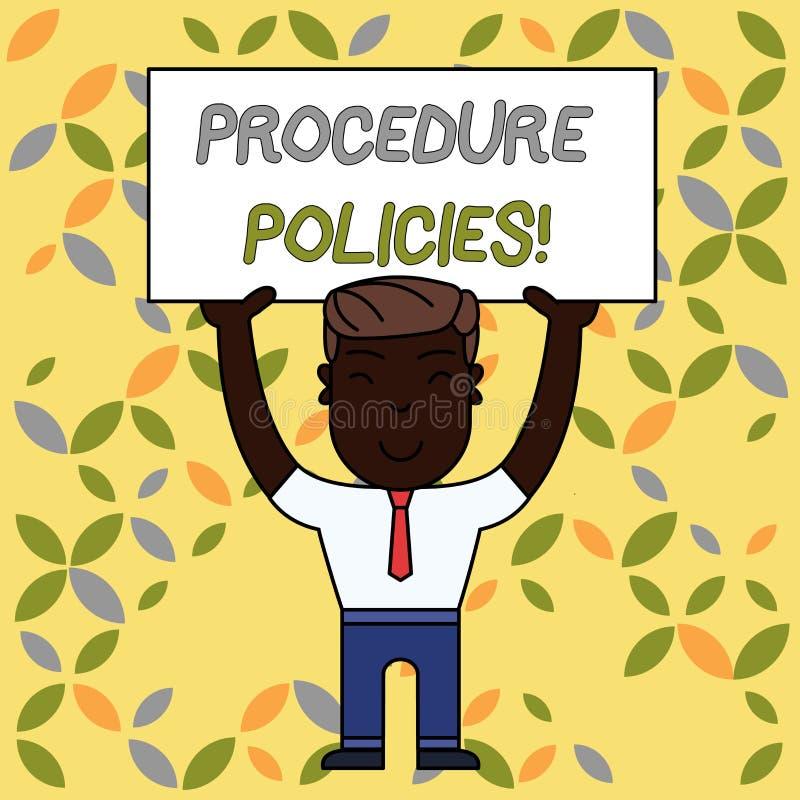 写笔记陈列做法政策 对指导原则条例的企业照片陈列的步 皇族释放例证