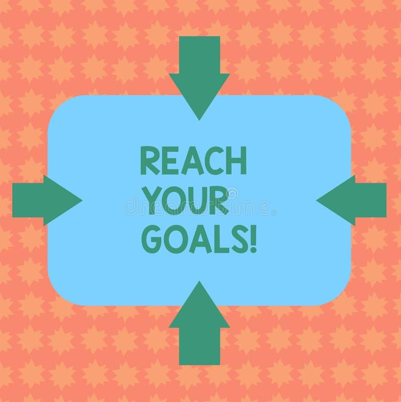 写笔记陈列到达您的目标 陈列企业的照片达到什么您要是完成的梦想或做名单 库存例证