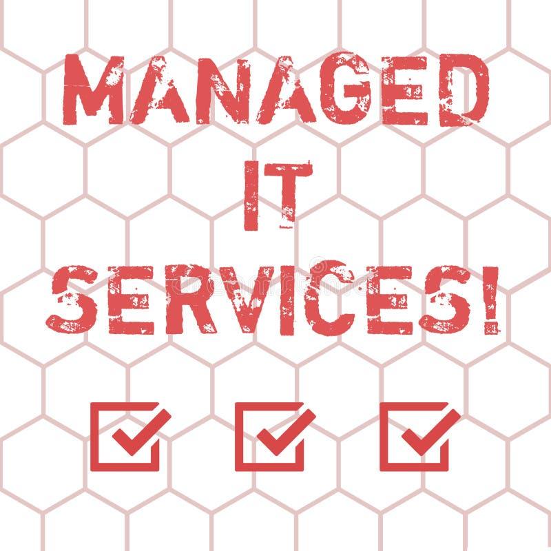 写笔记陈列处理了它为服务 企业照片陈列承担提供被定义的集合的责任 向量例证