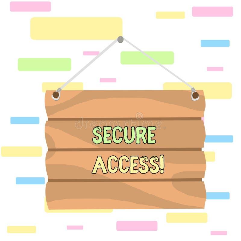 写笔记陈列安全通入 陈列企业的照片提高安全和密码学perforanalysisce  向量例证