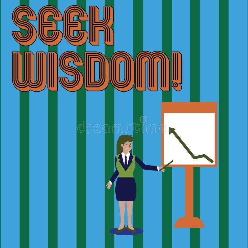 写笔记陈列寻求智慧 使用知识经验,企业照片陈列的能力认为行动 向量例证