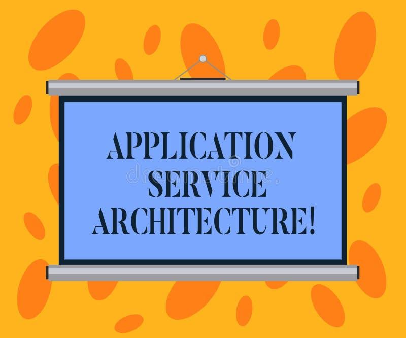 写笔记陈列应用服务建筑学 连接应用程序和数据解答的企业照片陈列的设计  库存例证