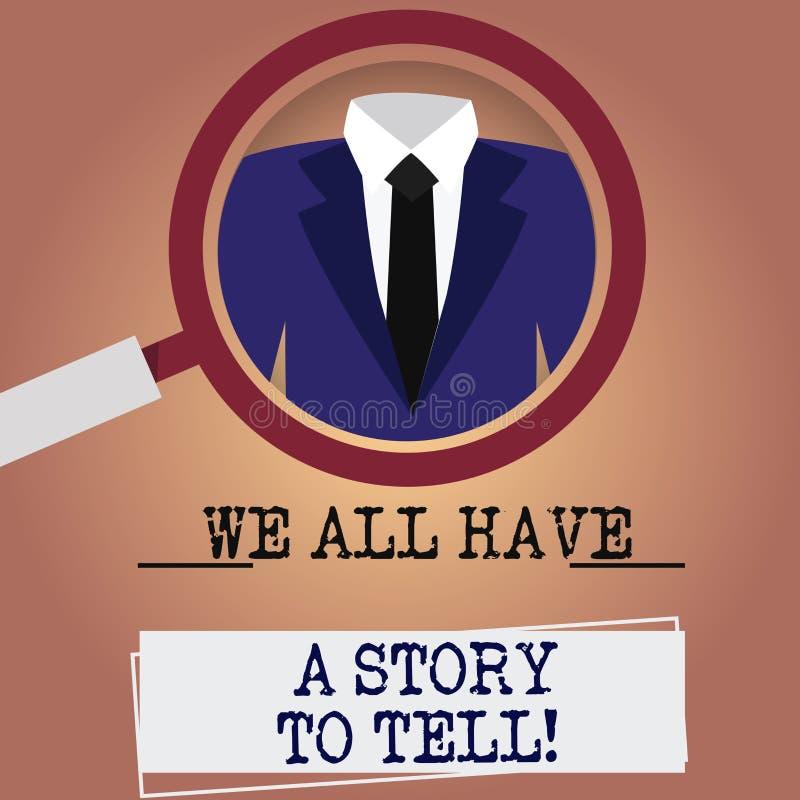 写笔记陈列我们所有有知道一个的故事 分享过去demonstratingal经验的企业照片陈列的讲故事 向量例证