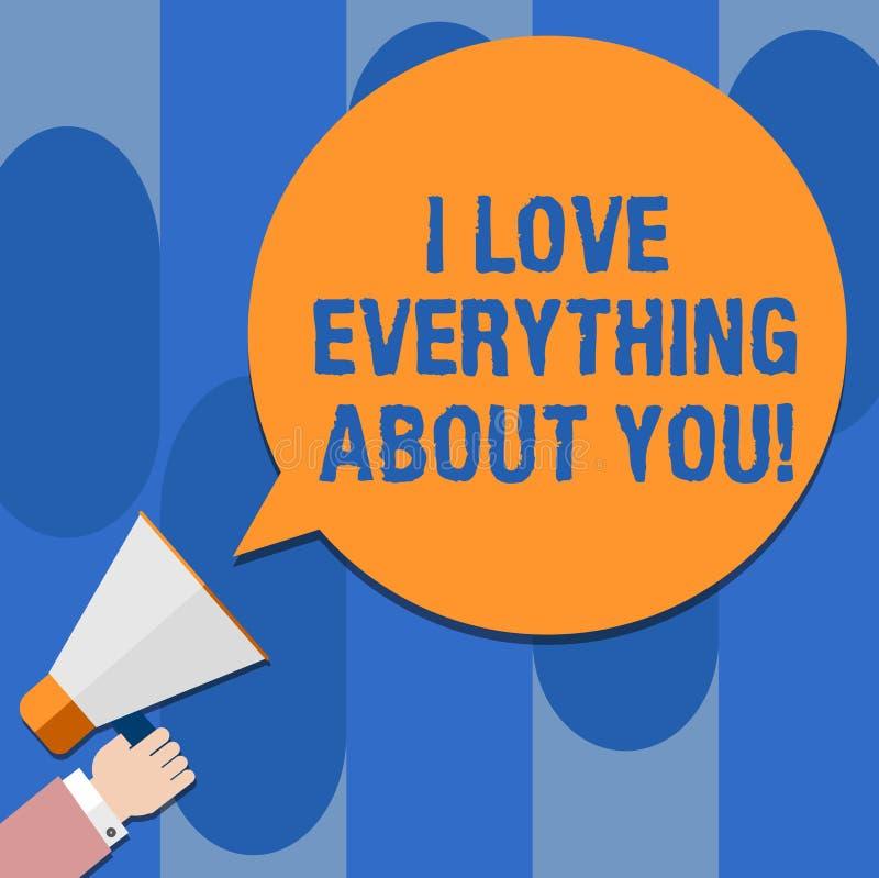 写笔记陈列我爱一切关于您 陈列企业的照片表现出roanalysistic感觉和情感胡 库存例证