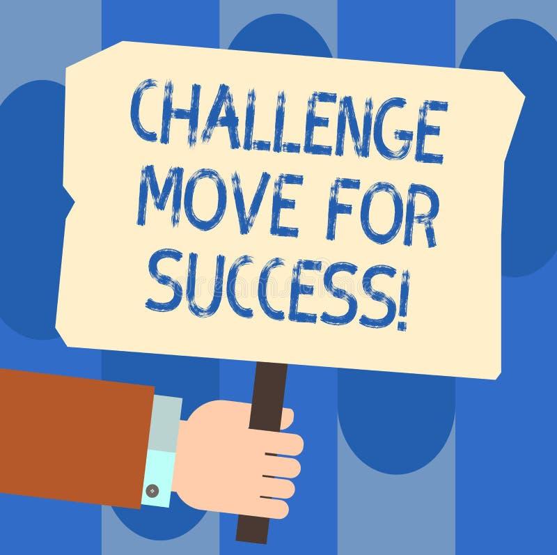写笔记陈列挑战移动成功的 陈列专业运动战略的企业照片成功 向量例证