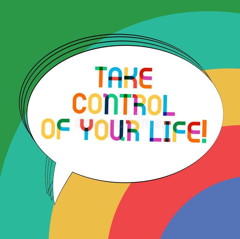 写笔记陈列控制您的生活 企业照片陈列是您的命运刺激analysisager  库存例证