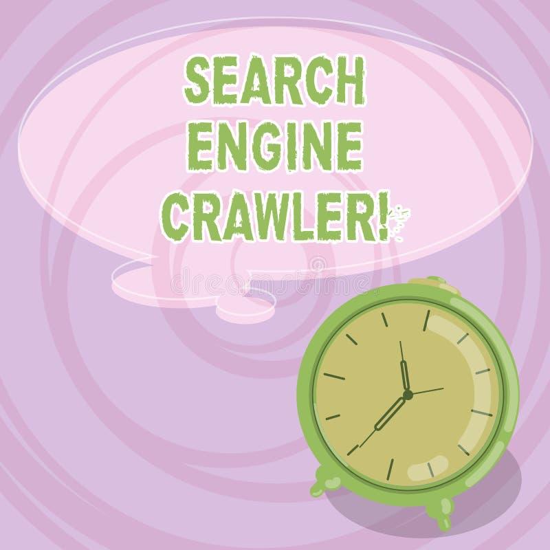写笔记陈列搜索引擎履带牵引装置 企业照片陈列的节目或浏览网的自动化的剧本 向量例证