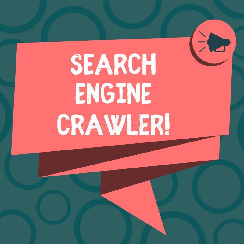 写笔记陈列搜索引擎履带牵引装置 企业照片陈列的节目或浏览网的自动化的剧本 库存例证
