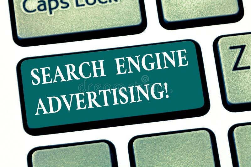 写笔记陈列搜索引擎广告 安置一个网上广告键盘键企业照片陈列的方法  皇族释放例证