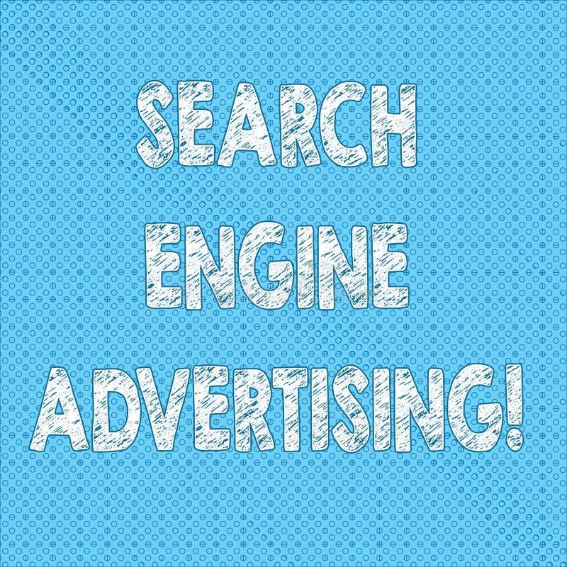写笔记陈列搜索引擎广告 安置无缝网上的广告企业照片陈列的方法  皇族释放例证