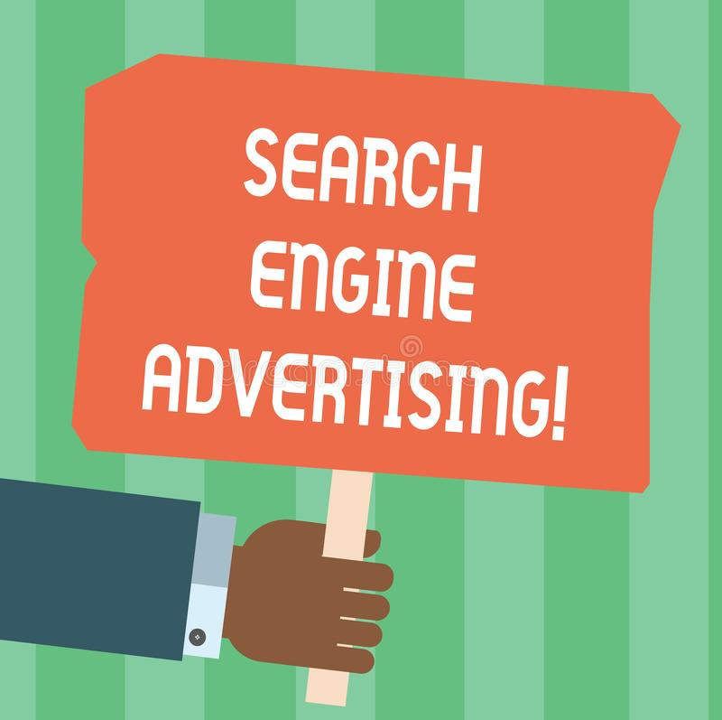 写笔记陈列搜索引擎广告 安置网上广告企业照片陈列的方法胡 皇族释放例证