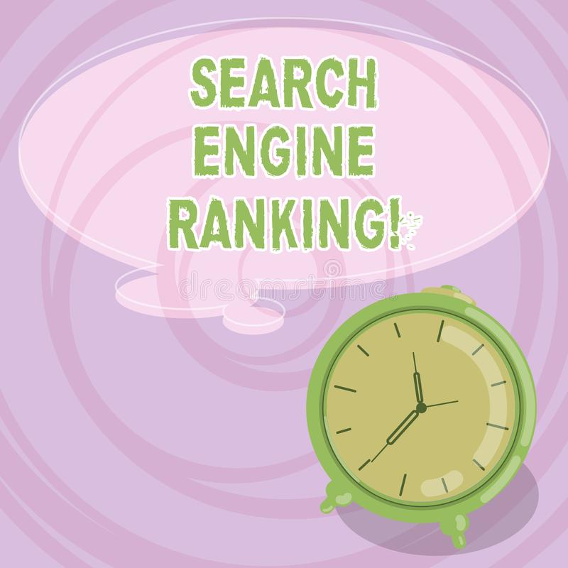 写笔记陈列搜索引擎等级 站点出现于搜索引擎的企业照片陈列的等级 皇族释放例证